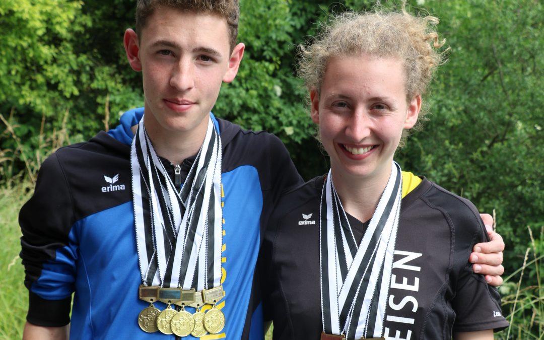 Lino, Lena und Sandro hamstern Gold an den kantonalen Meisterschaften, dazu Unmengen von Edelmetall!