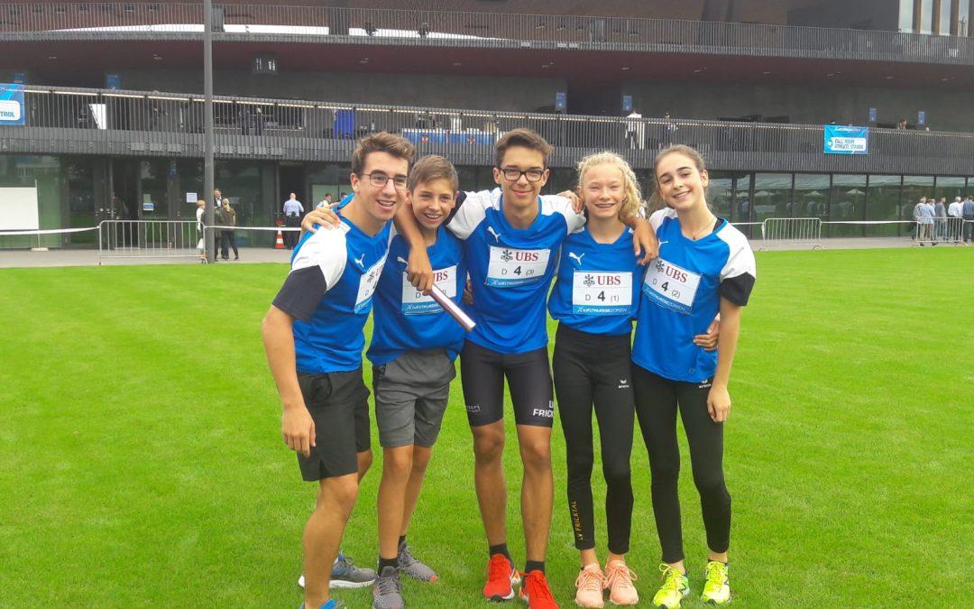 erfolgreiche LV Staffel bei Weltklasse Zürich