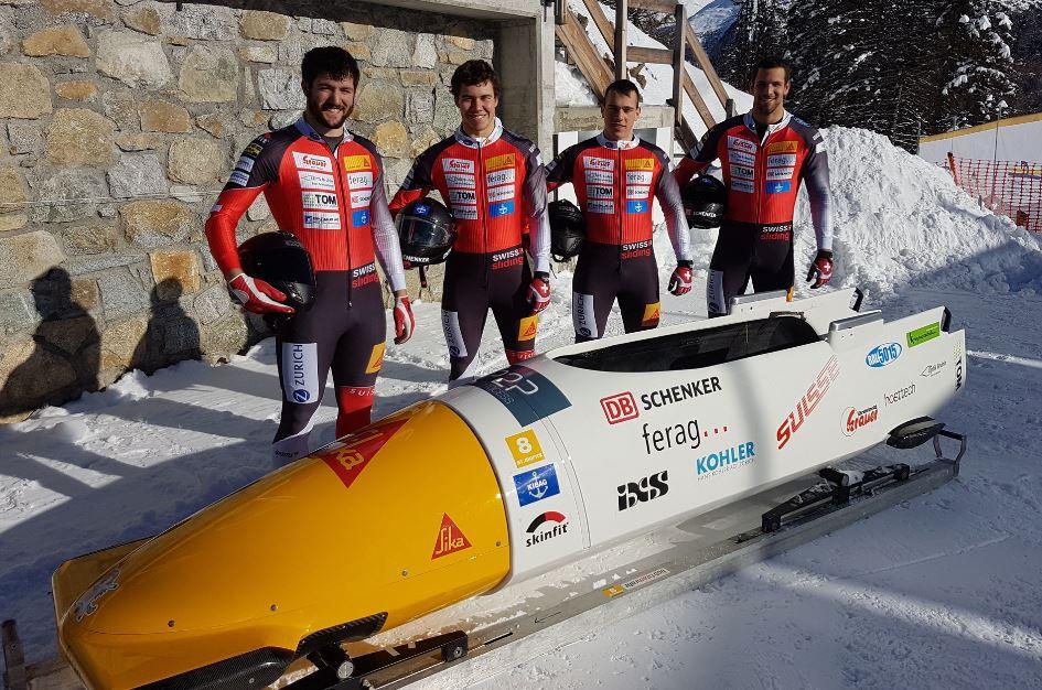 Sandro Michel im Eiskanal von St. Moritz