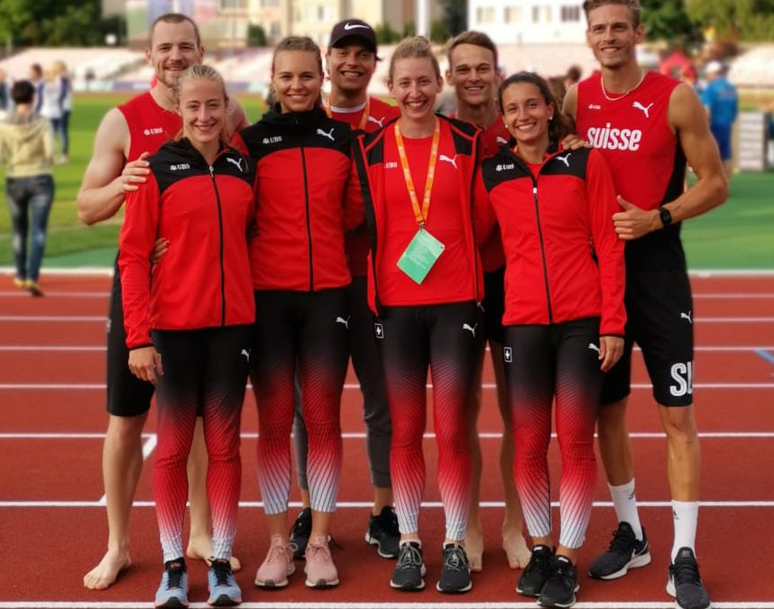 Lena in Lutsk für Swiss-Athletics