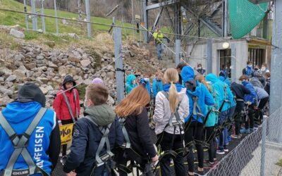 Verdiente Auszeit in Trainingswoche – Kletterpark Langenbruck