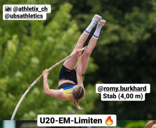 U20 EM Limite für Romy Burkhard