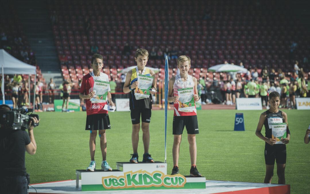 Doppelsieg des LV Fricktal am UBS-Kids Cup Schweizerfinal
